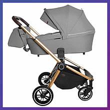 Дитяча універсальна коляска 3в1 з автокріслом CARRELLO Epica CRL-8511 Silver Grey сіра + дощовик