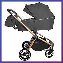 Дитяча універсальна коляска 3в1 з автокріслом CARRELLO Epica CRL-8511 Iron Grey сіра + дощовик