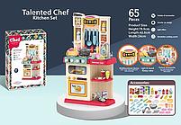 Детская кухня для девочек Kitchen Chef с водой вытяжкой и паром 65 аксессуаров 78 см, фото 3