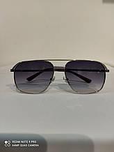 Очки солнцезащитные квадратные Авиаторы черные с градиентом унисекс  сонцезахисні окуляри