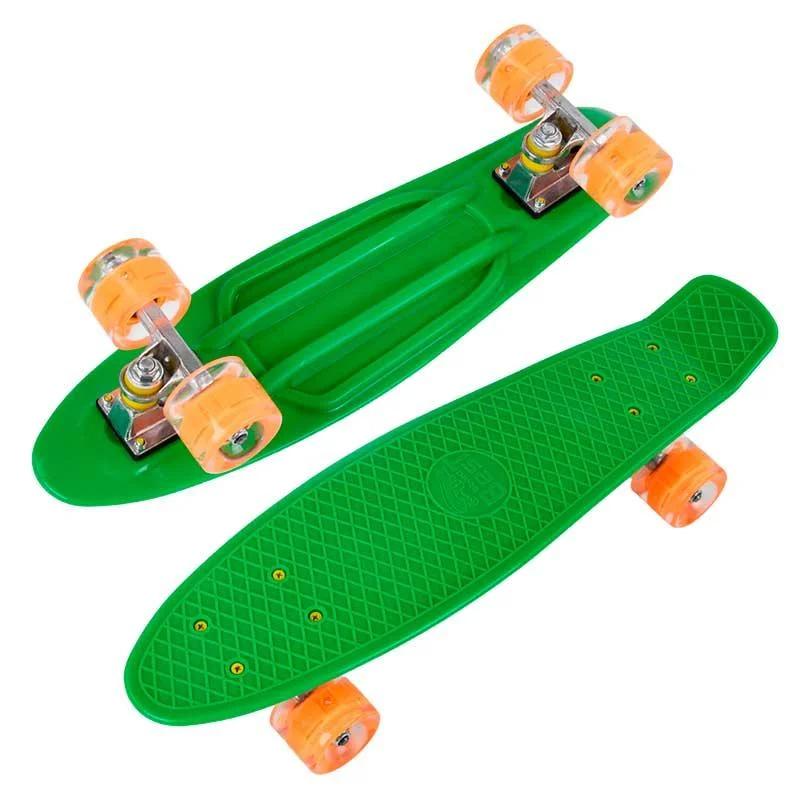 Пенні скейт борд зі світними колесами Best Board Зелений