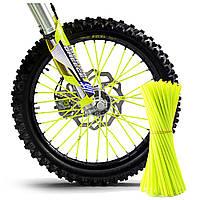 Накладки на спицы мотоцикла, велосипеда 5*235мм, к-кт 72шт, САЛАТОВЫЙ