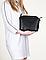 Итальянская Женская черная кожаная сумка 24х20х7, фото 3