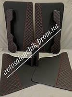 ЛЮКС Карты двери подлокотник карманы ВАЗ 2101 2102 2103 2104 2105 2106 2107 РОМБ с красной нитью