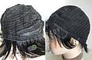 💎Натуральный парик женский. Короткая стрижка. Чёрный из натуральных волос, фото 4
