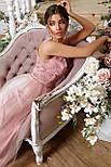 Довге вечірнє рожеве плаття Вайнона б/р, фото 4