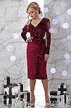 Оксамитове бордове плаття Валерія д/р, фото 2