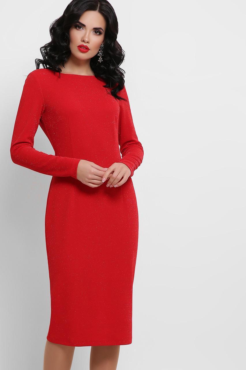 Красное платье Викси д/р