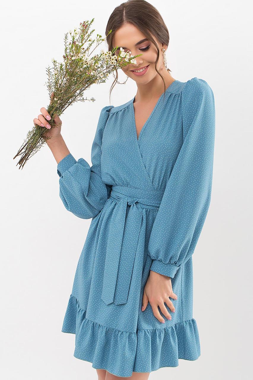Молодежное  платье из софта с оборками  Идэн д/р