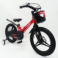 Двоколісний велосипед MARS-2 Evolution, магнезієва рама, 18 дюймов колеса, з корзиною, червоний, фото 1