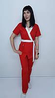 Женский медицинский костюм Бэль хлопок короткий рукав