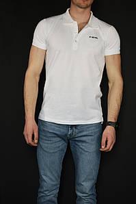 Футболка поло мужская DIESEL Polo T-Heal Broken белая