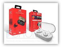 Беспроводные наушники Double с кейсом, разные цвета, Bluetooth, наушники беспроводные, наушники и гарнитуры