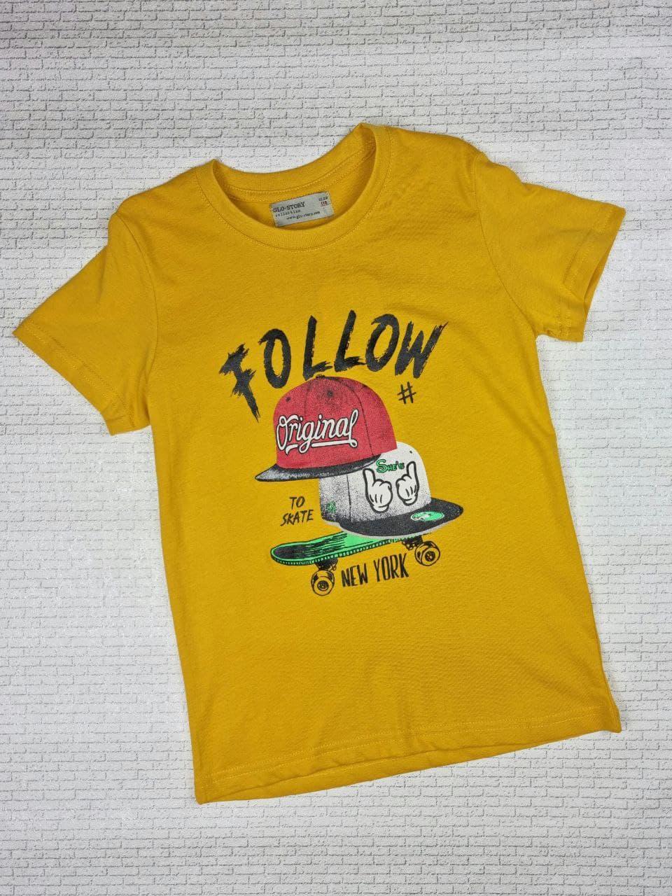 Футболка GLO-STORY на мальчика  110 см, желтый