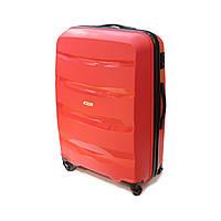 Пластиковый большой чемодан на 4-х колесиках 95 л Airtex Newline красный, фото 1