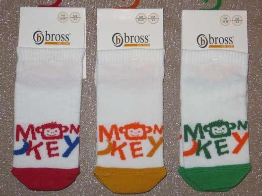Носки детские укороченные хлопковые Bross сеточка с рисунком