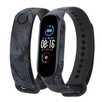 ЗАХИСНИЙ силіконовий ремінець СІРИЙ на фітнес годинник Xiaomi mi band 5 браслет аксесуар заміна