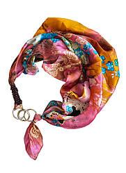 """100% шовковий платок """"цвітіння сакури в рожевому саду"""" від my scarf. преміум колекція!"""
