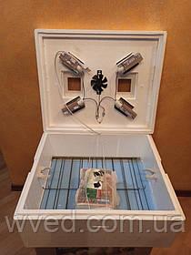 Автоматический инкубатор Омега ИБ-62 (ламповый+вентилятор+сетки 2шт куры,гуси)