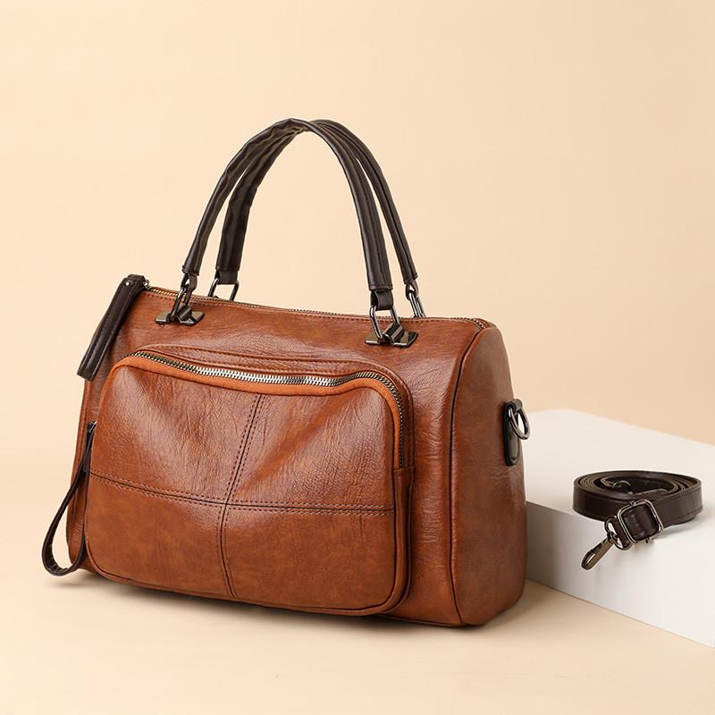 Жіноча коричнева сумка код 3-100