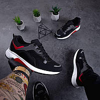 Удобные повседневные демисезонные черные мужские кроссовки