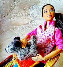 Мініатюра. валяне собачка для невеликої ляльки