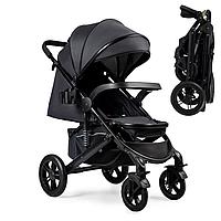 Прогулочная коляска черная Ninos Uno Dark Grey/Gold 2021