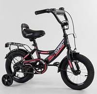 """Двухколесный велосипед Corso CL-12854 диаметр колес 12"""", оборудован страховочными колесами, ручной тормоз"""