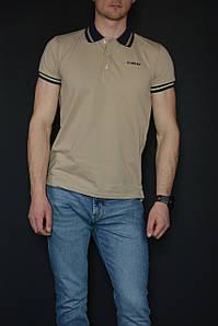 Футболка поло мужская Diesel Polo T-Randy Broken коричневая