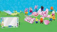 Свинка Пеппа с друзьями на пикнике со столом и посудой и аксессуары