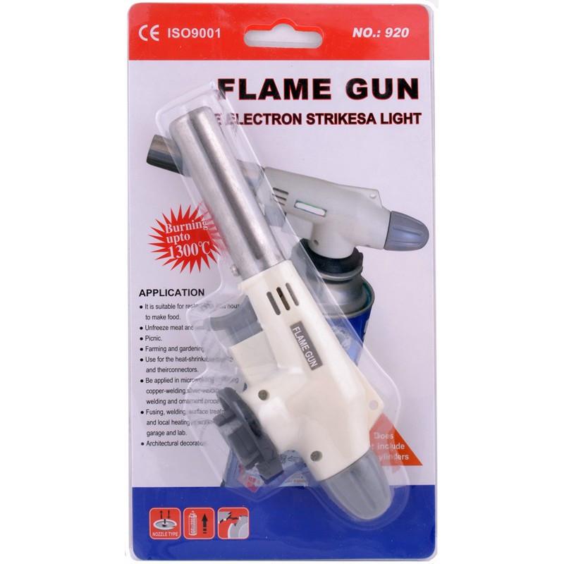 Газова пальник паяльна лампа c п'єзо підпалом N-920