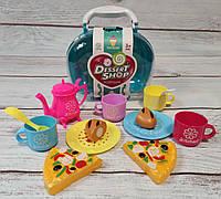 Детский набор продукты сладости пица чайник посуда для детей