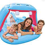Водний ігровий центр з гіркою Бегемотик Intex 57150, фото 2