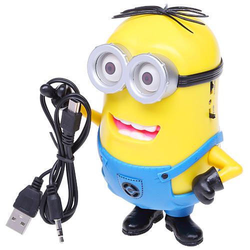 Аудіо колонка Міньйон microSD / USB + MP3 Радіо