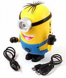Аудіо колонка Міньйон microSD / USB + MP3 Радіо, фото 2