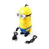 Аудіо колонка Міньйон microSD / USB + MP3 Радіо, фото 3
