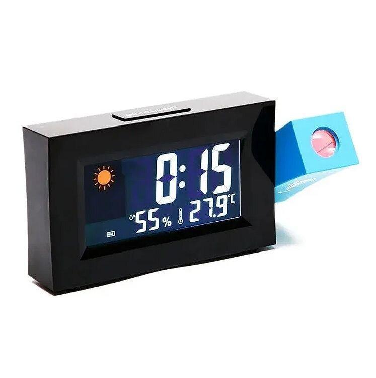 Часы метеостанция с проектором времени 8290