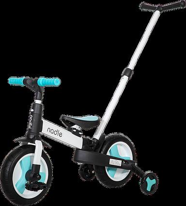 Дитячий велосипед трансформер 5 в 1 блакитний Nadle SL-A6