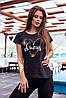 Жіноча футболка з сердечком always 42-46 (в кольорах), фото 4