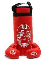 Набор боксерская груша и перчатки Красная 55 см (11221)