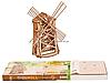 Деревянный механический конструктор Wood Trick Мельница.Техника сборки - 3d пазл