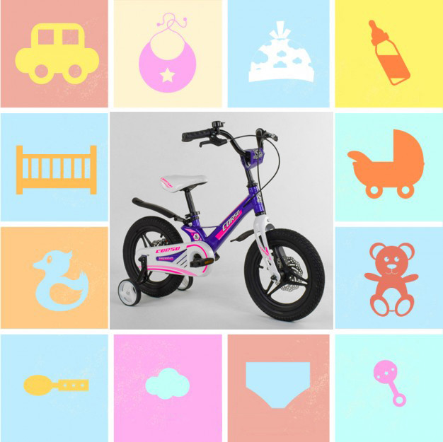 """Двухколесные велосипеды 14"""""""