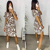 Молодежное красивое приталенное платье летнее.Огромный выбор расцветок.Новое поступление