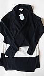 Модный женский кардиган вязанный черный с белым 44-50 Blue Motion, фото 2