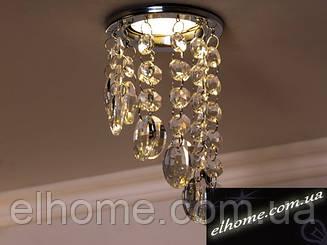 Точечный светильник с хрустальными повесками