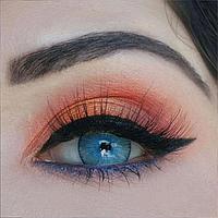 Линзы цветные для глаз (есть опт) голубые New York Blue подходят для светлых глаз