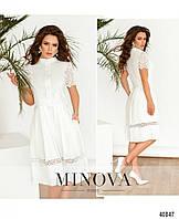 Платье женское весеннее №1098-белый 42 44 46 48р.