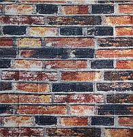 Стеновые 3D панели самоклеющиеся Sticker Wall 31 Панель 3D стеновая красный кирпич 69 см X 78 см