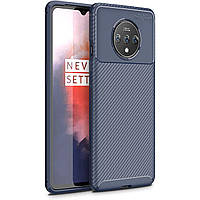 Чехол Carbon Case для OnePlus 7T Blue