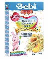Молочная каша овсяная с персиком Bebi Premium (Беби Премиум) с 5 месяцев , 250 г